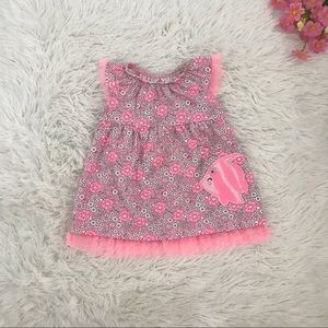 🐠 Baby Girl Tropical Floral Pink Dress 🐠
